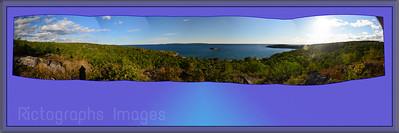 Lake Superior; Panorama, Terrace Bay, Ontario, Canada  Ric Evoy; Rictographs Images