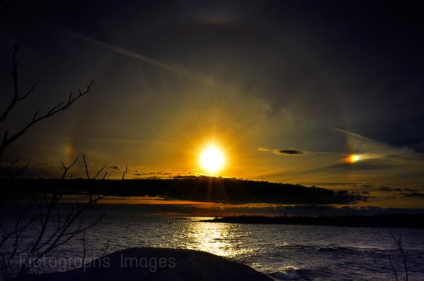 Lake Superior Sun Setting, Autumn 2017