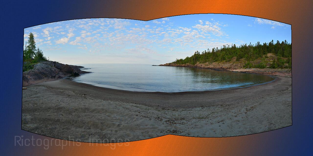 Lake Superior Beach Panorama, Terrace Bay, Ontario, Canada