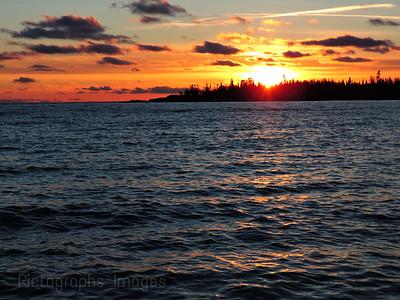 Sun Set, Lake Superior, 2018
