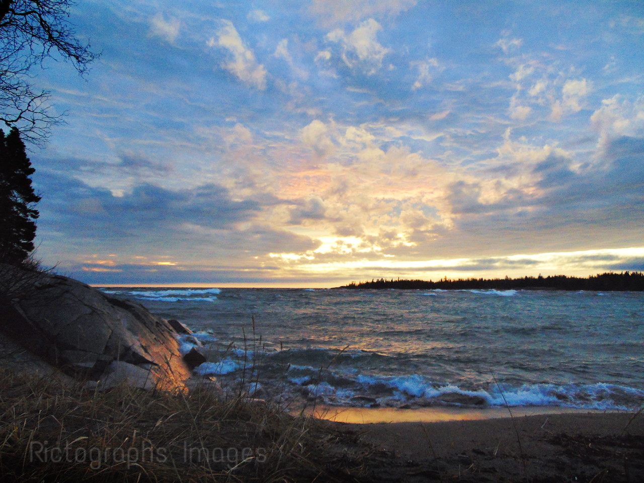 A Lake Superior Landscape Photo, Rictographs Images