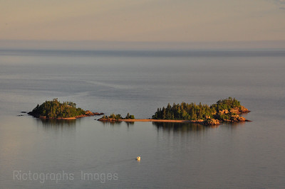 Old Ned and Taylor Islands, Lake Superior, Terrace Bay, Ontario, Canada