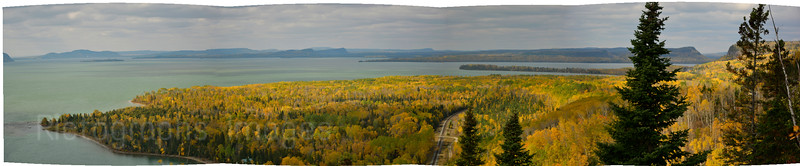Lake Superior, Panorama Shot, Kama Bay, Scenic Lookout, Autumn 2014