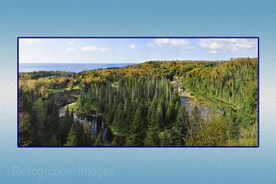Terrace Bay, Lake Superior, Panorama, Aug 2012