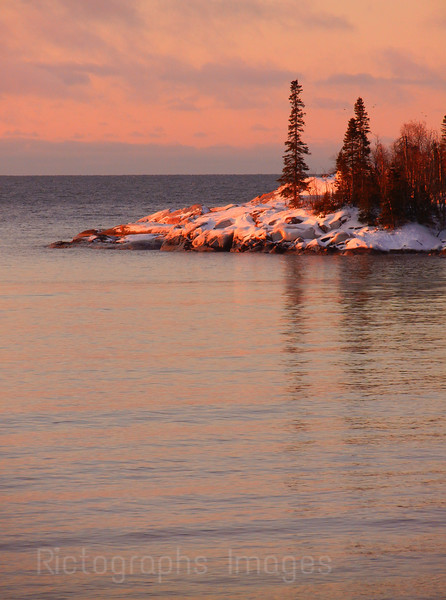 Lake Superior Early Spring Morning.