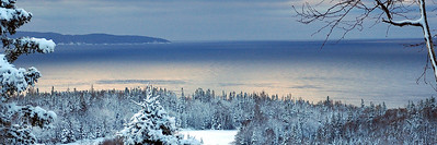Lake Superior,Snowy Winter