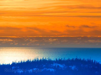 Winter North Coast Lake Superior