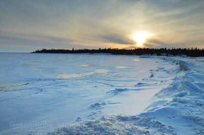 The Beach at Terrace Bay, Ontario, Canada, Winter