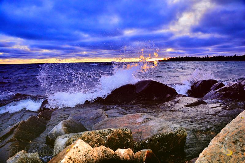 Lake Superior, Sunset, 2017