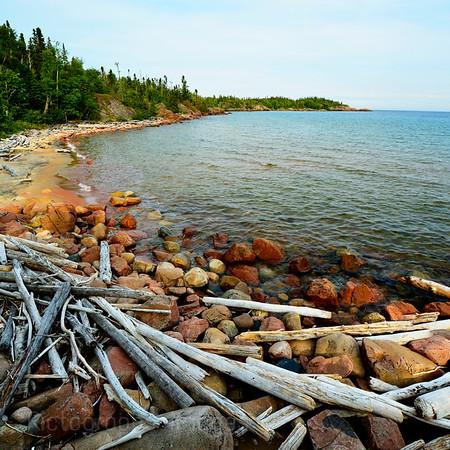 Casque Isles Hiking Trail, Lake Superior; Lyda Bay Segment; 2015, Rictographs Images