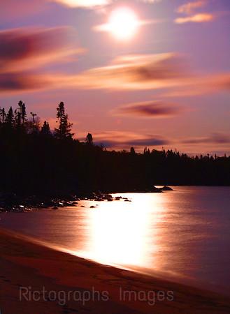 The Moon & Lake Superior