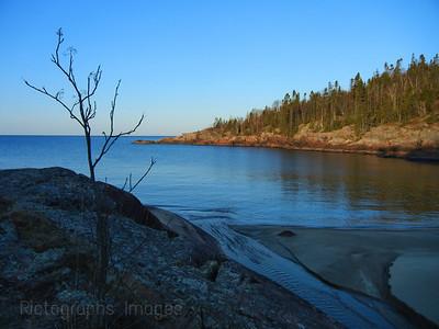 Lake Superior, Beach,, photography, landscape, blue, Canada,Ontario,823