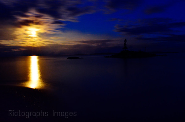 Lake Superior, Moon Light, Summer 2017