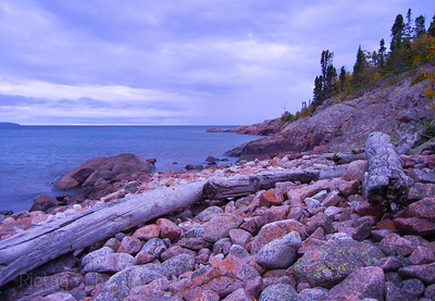 An Early Morning Sight Along The North Coast of Lake Superior. Waters and Waves Sculpting the North Shore of Lake Superior