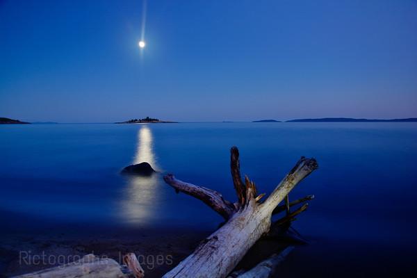 The Moon, Gull Isle, & Lake Superior, Summer 2014