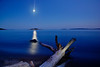 The Moon, Gull Isle, & Lake Superior, Summer 2014