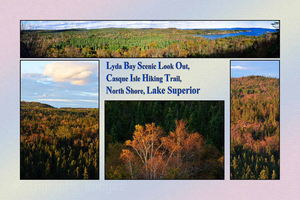 Lyda Bay,  Lake Superior, Casque Isles Hiking Trail, Scenic Lookout