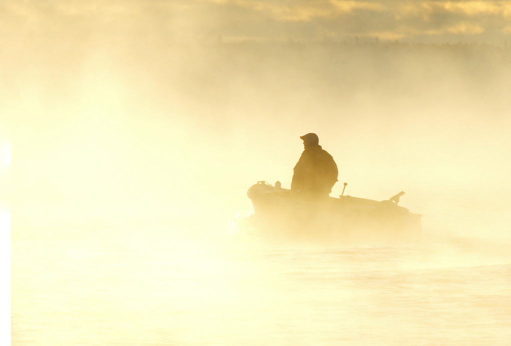 Foggy Fishing, Lake Superior