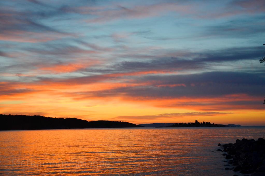 A Lake Superior Sun Rise Landscape, Rictographs Images