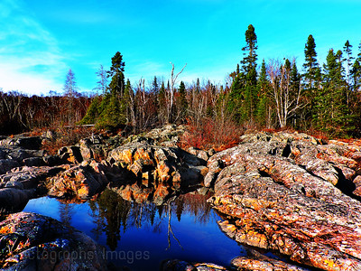 Rocks & Trees on the Coast of Lake Superior, Spring 2017, Rictographs Images