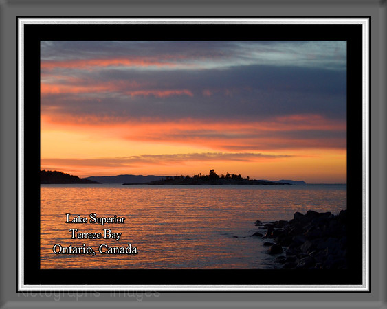 Lake Superior; Gitche Gumee;  Ontario; Canada Summer 2015; Rictographs Images; Water Rocks