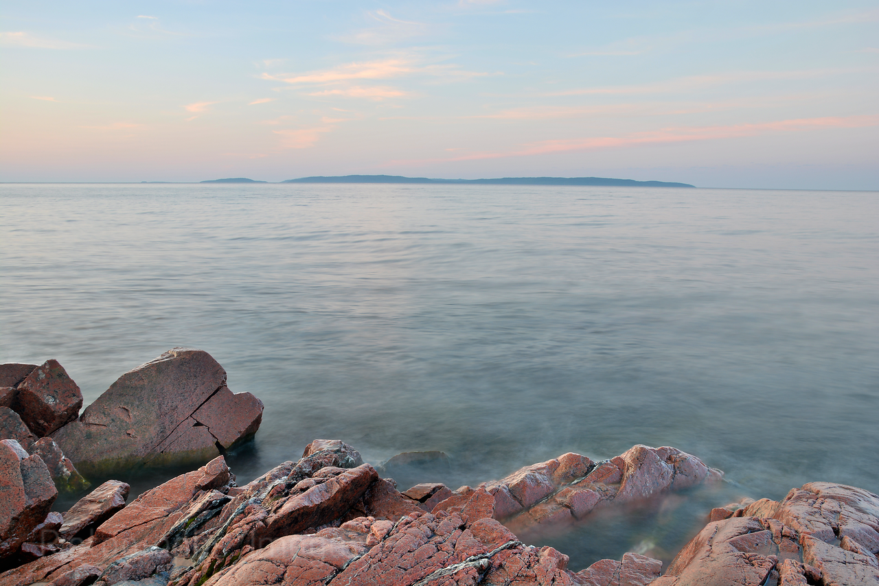 Lake Superior, Terrace Bay, Ontario, Canada, Slate Islands on The Horizon