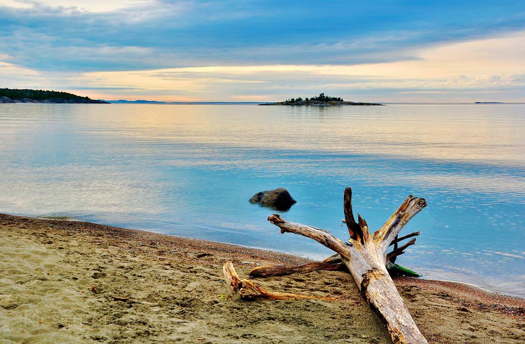 Picture Of Natural Lake Superior. Terrace Bay, Ontario, Canada