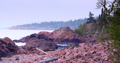Rocky Lake Superior shoreline Waters and Waves Sculpting the North Shore of Lake Superior