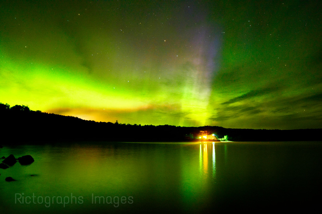 Long Exposure, Photo, Lake Superior & The Northern Lights,Terrace Bay,  Ric Evoy, Rictographs Images