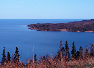 West Side of Terrace Bay, Ontario Waters and Waves Sculpting the North Shore of Lake Superior