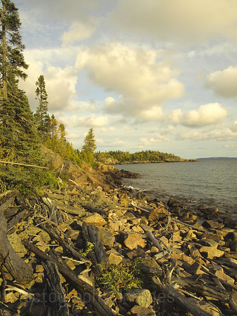 Superior Shoreline Waters and Waves Sculpting the North Shore of Lake Superior