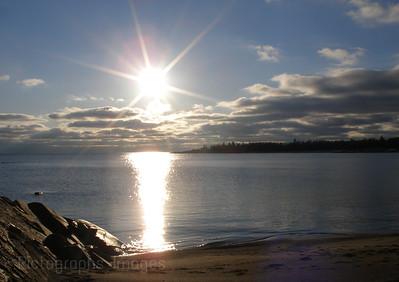 God's Sun Walking On Water