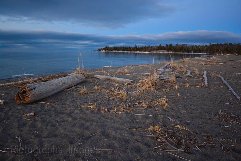 Lake Superior Landscape, Terrace Bay Beach, Ric Evoy, Rictographs Images, Spring 2015