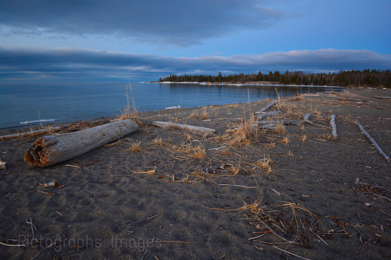 Lake Superior Landscape, Terrace Bay Beach, Ric Evoy, Rictographs Images, Spring 2015