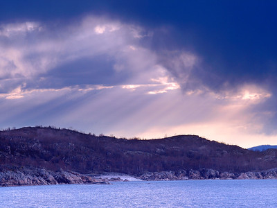 Majestic Sky with Rain Waters and Waves Sculpting the North Shore of Lake Superior