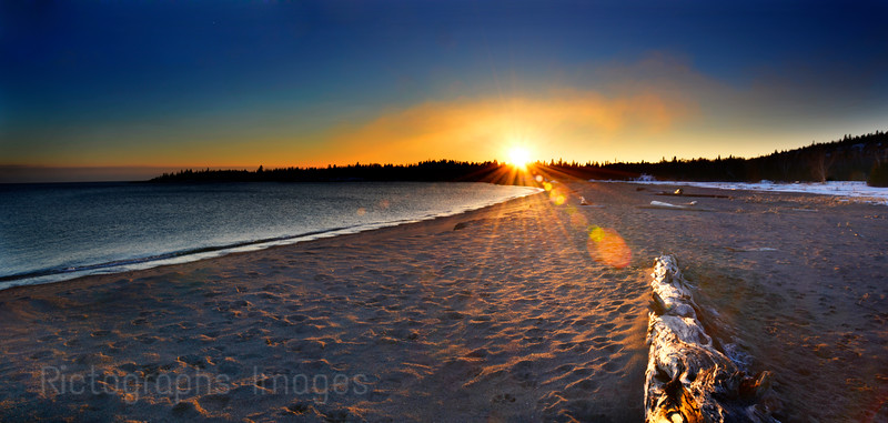 The Beach at Terrace Bay, Ontario, Canada, Rictographs Images