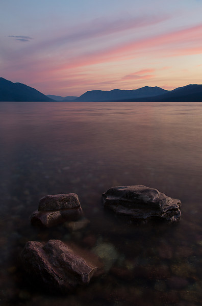 Pastel Skies, Lake MacDonald, Glacier National Park