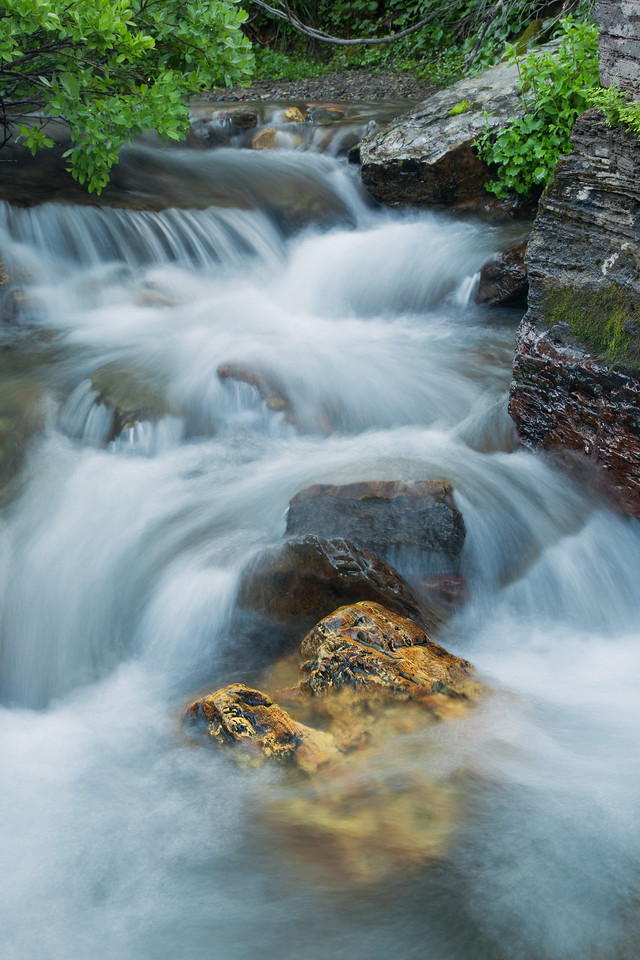 Small Cascades.  Lunch Creek, Glacier National Park