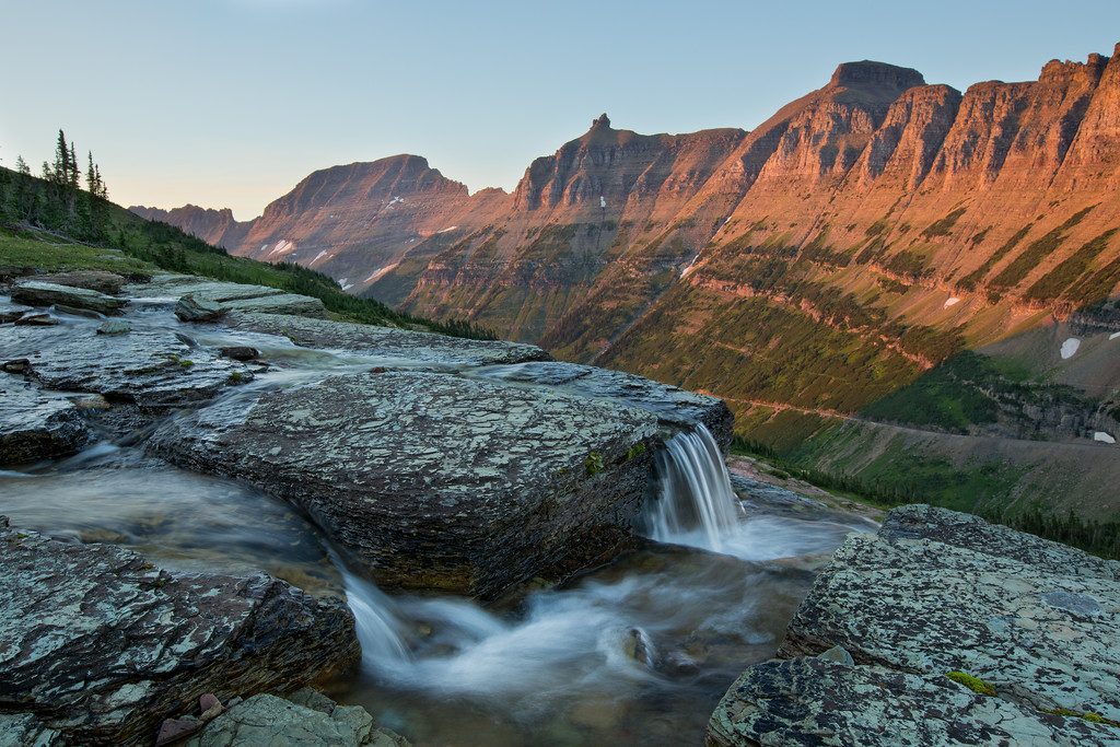 Oberlin Creek and the Garden Wall #2, Glacier National Park