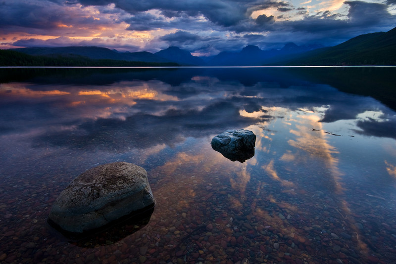 Sunrise on Lake MacDonald 1