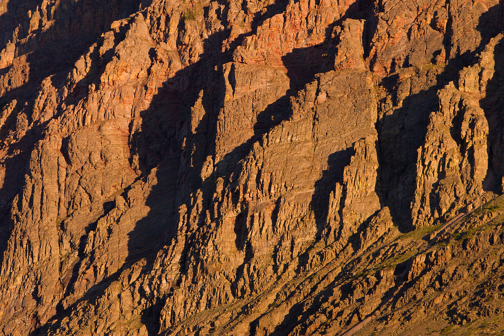 Detail of Mountain in Morning Light 1