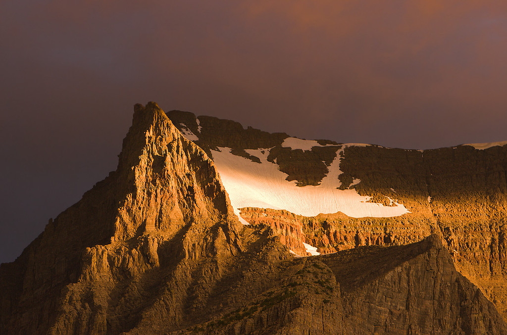 Stormy Sunrise on Peak from Sun Point