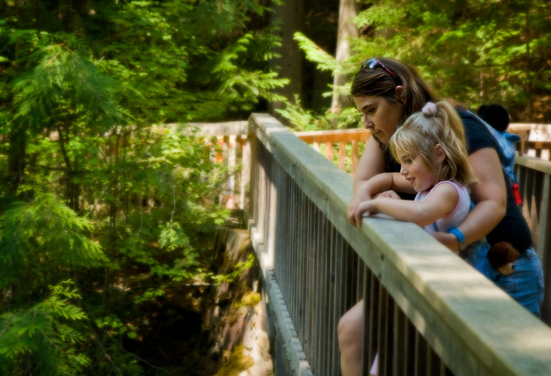 Admiring the View.  Avalanche Creek.