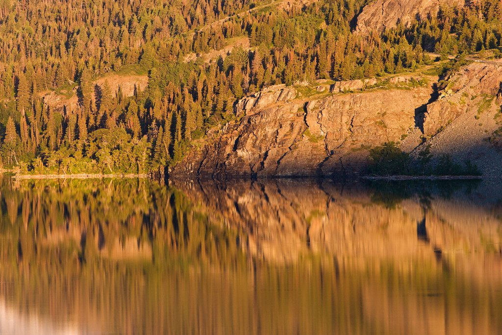 Morning Reflections on St Mary Lake 2