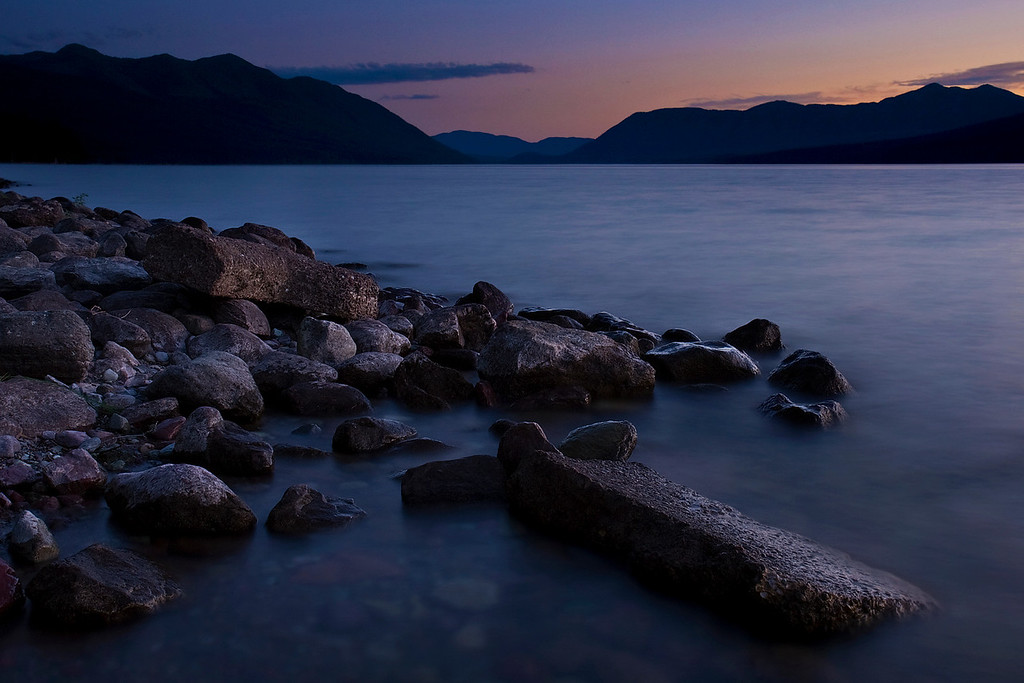 Twilight on Lake MacDonald