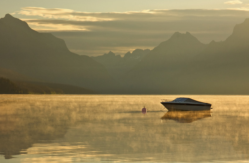 Morning Mist over Lake MacDonald