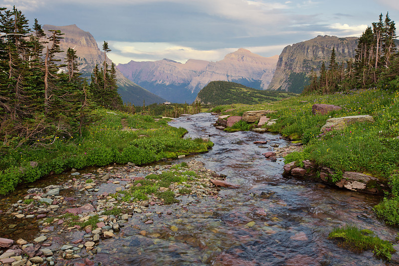 Oberlin Creek, Glacier National Park