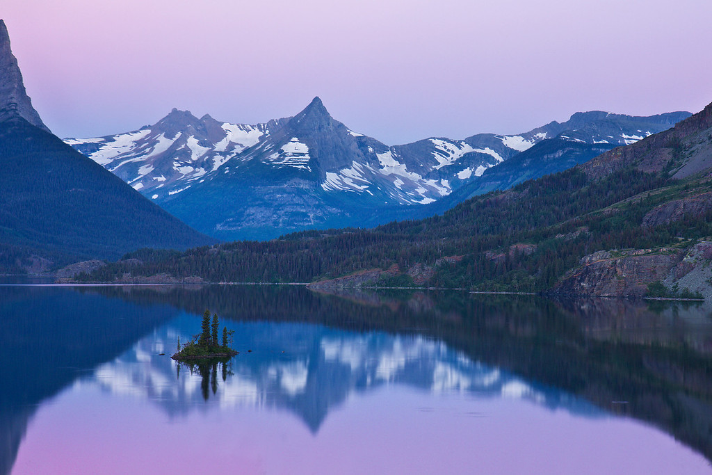 Twilight Glow on Wild Goose Island