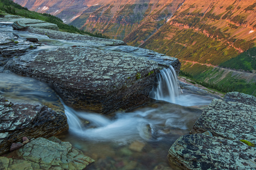 Oberlin Creek at Sunset, Glacier National Park