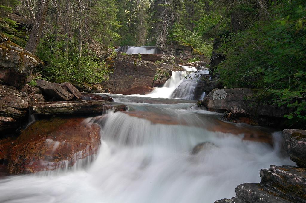 Cascades near Virginia Falls